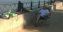 В городе Астрахань участники программы реабилитации «Исход» отправились на рыбалку.