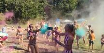 Весёлые старты и фестиваль красок...