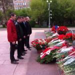 Волгоград: возложение цветов к Вечному огню